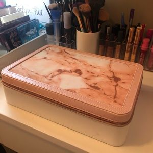 Pink and White Makeup Case